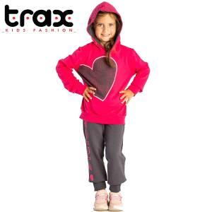 Φόρμα φούτερ κοριτσίστικη με στάμπα girl TRAX
