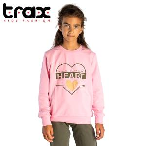 Φόρμα φούτερ κοριτσίστικη με στάμπα Follow TRAX