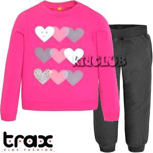 Φόρμα φούτερ κοριτσίστικη με στάμπα Love TRAX