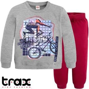 Φόρμα φούτερ αγορίστικη με στάμπα ride TRAX