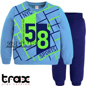 Φόρμα φούτερ αγορίστικη με τύπωμα 58 TRAX