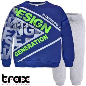 Φόρμα φούτερ αγορίστικη με τύπωμα Generation TRAX