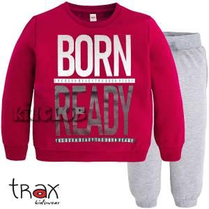 Φόρμα φούτερ αγορίστικη με τύπωμα Ready TRAX