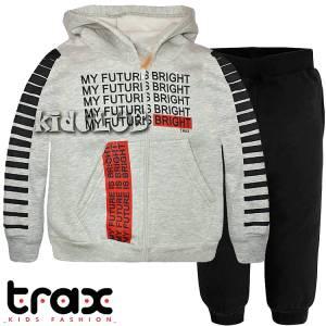 Φόρμα φούτερ αγορίστικη με τύπωμα Future TRAX
