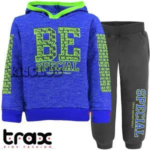 Φόρμα φούτερ αγορίστικη με στάμπα Be TRAX
