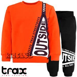 Φόρμα φούτερ αγορίστικη με στάμπα Street TRAX