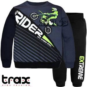 Φόρμα φούτερ αγορίστικη με τύπωμα Extreme TRAX