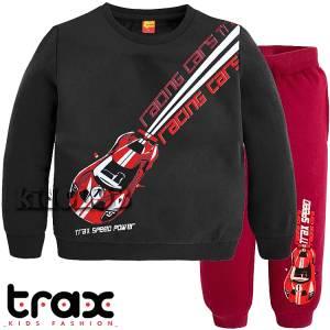 Φόρμα φούτερ αγορίστικη με τύπωμα Power TRAX