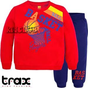 Φόρμα φούτερ αγορίστικη με τύπωμα Superteam TRAX