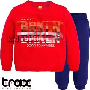 Φόρμα φούτερ αγορίστικη με τύπωμα Down Town TRAX