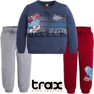 Φόρμα φούτερ με δύο παντελόνια για αγόρι Trax