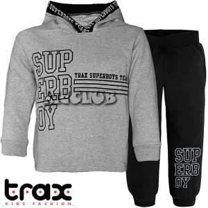 Φόρμα φούτερ αγορίστικη με στάμπα Team TRAX