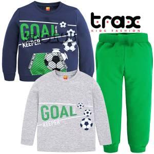 Φόρμα φούτερ αγορίστικη με τύπωμα Goal 3 Τεμάχια TRAX