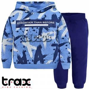 Φόρμα φούτερ αγορίστικη με στάμπα Before TRAX