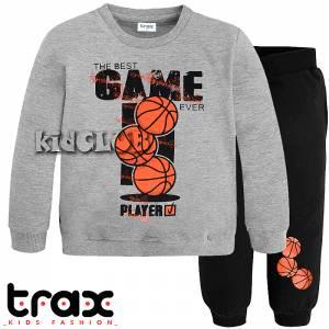 Φόρμα φούτερ αγορίστικη με στάμπα Basket TRAX