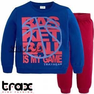 Φόρμα φούτερ αγορίστικη με στάμπα Game TRAX