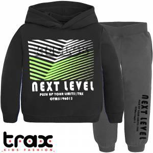 Φόρμα φούτερ αγορίστικη με στάμπα Next TRAX