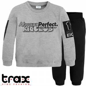 Φόρμα φούτερ αγορίστικη με στάμπα Always TRAX