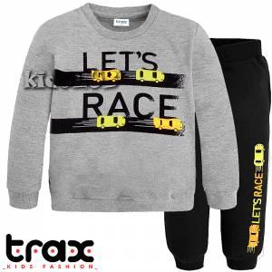Φόρμα φούτερ αγορίστικη με στάμπα Let TRAX